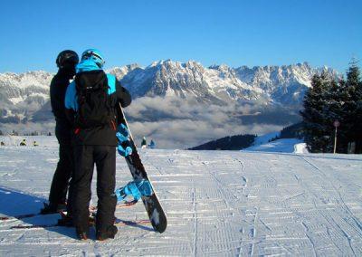 Skifahren ganz in der Nähe