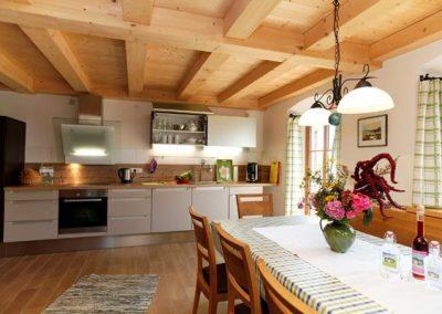 Die Wohnküche der Ferienwohnung Wendelstein
