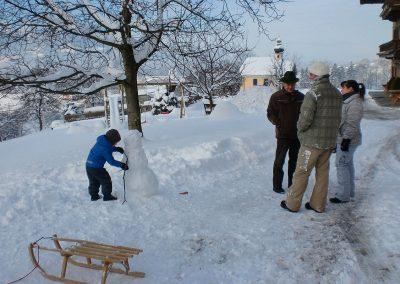 Der Winter auf dem Niederthanner Hof