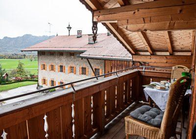 FeWo Riesenkopf_Blick vom Balkon Richtung Berge